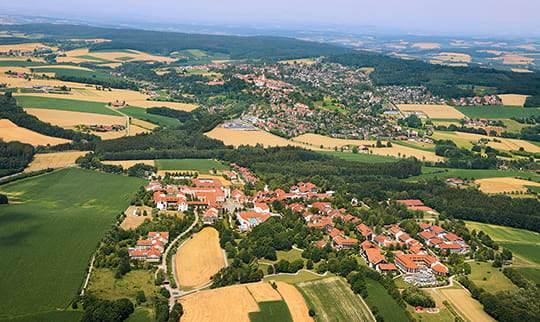 Der Ortseingang der Gemeinde Bad Griesbach.