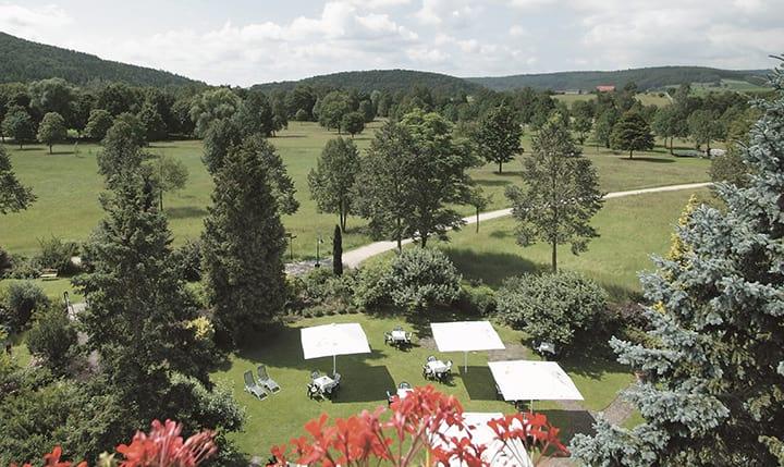Hotelbild Blick auf das Saaletal