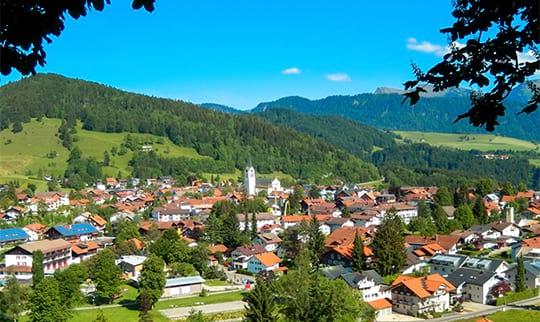 Ausblick über die Gemeinde Oberstaufen