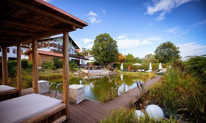 Hotelbild Ausblick auf den Garten